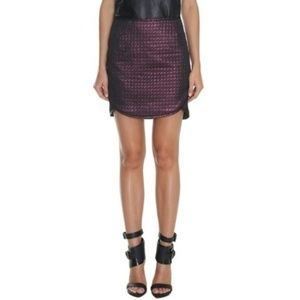 Tibi Quilted Lurex Metallic Jacquard purple Skirt